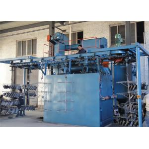 China Overhead Chain Continuous Hanger Type Shot Blasting Machine For Heat Treated Forgings on sale