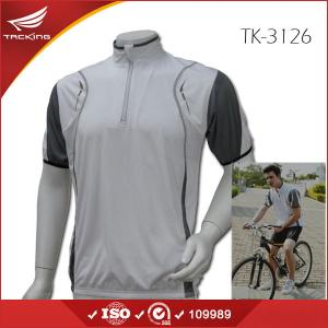 China USA market Summer men short sleeve plain cycling jersey on sale