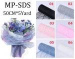 Mesh Lace Lightning flower package 50CM*5Yard /Roll MP-SDS