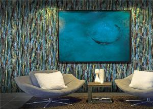 China Fashionable Blue Modern 3d Wall Covering / Wallpaper For Wall Decoration on sale