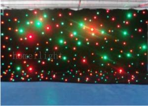 China Flexible Full Color LED Backdrop Curtain , Twinkling Star RGB LED Curtain 4m * 6m on sale