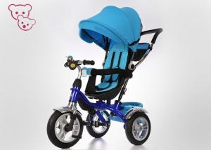 China Sunshade Canopy Metal 4 In 1 Baby Tricycle Bike Push And Ride Rotating Seat on sale