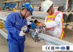 High Strength Cold Pipe Cutting Beveling Machine Various Bevel Type 212 KG