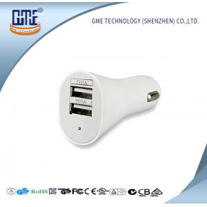 China Universal USB Power Adapter 5V 2.1A / 2.4A Double USB Car Charger on sale