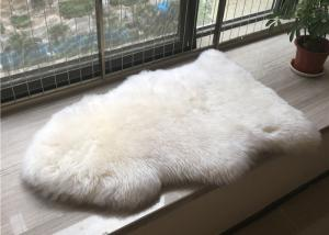 China Handmade Washable Sheepskin Rug , Natural Shaped Sheep Throw Blanket For Baby Play on sale
