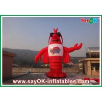 Red H3 - 8m PVC Inflatable Lobster  Custom Giant For Exhibitions