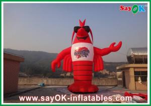 China Red H3 - 8m PVC Inflatable Lobster  Custom Giant For Exhibitions on sale