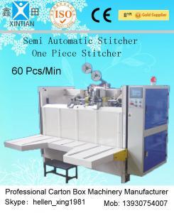 China High Efficiency Semi Automatic Corrugated Stitching Machine For Carton Box on sale