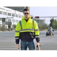 100 % polyester 300D oxford hi vis safety jacket  winter waterproof reflective safety jacket for worker