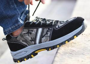 China Customized Lightweight Industrial Safety Shoes Durable Lace Up For Unisex on sale