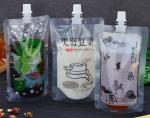 FDA approved stand up clear liquid spout pouch/Wine bag with spout tap for Chinese herbal medicine drink