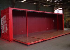 China 40HQ ISO Metal Shipping Containers With Foldable Wall Panels on sale