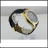 Durable Big Dial Mens Leather Belt Watches For Sports Auto Date Mineral Glass Material