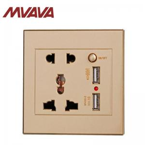 China MVAVA USB Wall Socket with Universal Power Adapter Wall Outlet Panel  For Restaurant & Cafe Pubs on sale