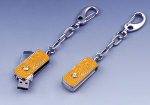 China Eco - friendly 1GB, 2GB Novelty Usb Flash Drive Crystal Jewelry Pendant on sale