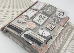 China Memories Travel Scrapbook Albums / CMYK Printing Wedding Scrapbook Albums 12x12 on sale
