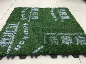 China Environmental Friendly Anti-UV Pile Height 25mm denstiy 21000 green color high quailty artificial turf on Soccer court on sale