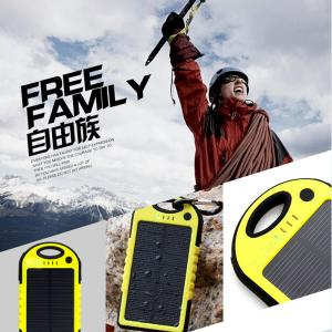 China Dual usb solar charger 5000mAh full capacity solar charger on sale