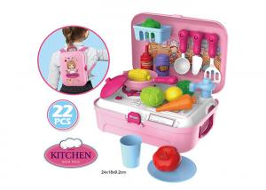 China Portable Backpack Kitchen Role Play Toys , Pretend Play Children's Cooking Set on sale