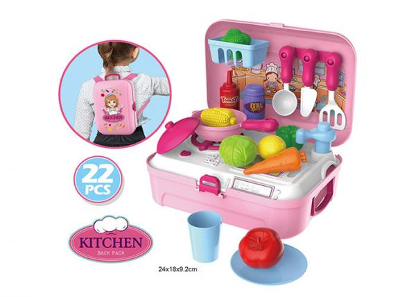 Portable Backpack Kitchen Role Play Toys , Pretend Play ...