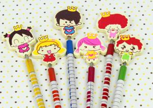 China 2014 new arrival  pencils for school,pencil toppers on sale