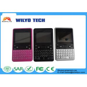 China WZ10 2.4 inch Quad Band Features Phone , Dual Sim Mobile Phone With Qwerty Keyboards Mp3 on sale