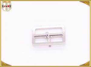China Silver Metal Replacement Shoe Buckles With Center Bar 25mm Inner Size on sale
