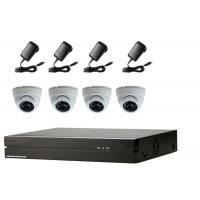 China Dome IP Camera 4 Channel NVR Kit , IP Security Camera Kit With 5pcs Power Supply on sale