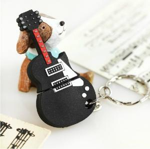 China cartoon character  noverlty usb flash drive Guitar shaped usb stick 8gb on sale