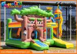 Multiplay Fairytale Inflatable Bouncer Slide For Kids / Blow Up Bouncy Castle