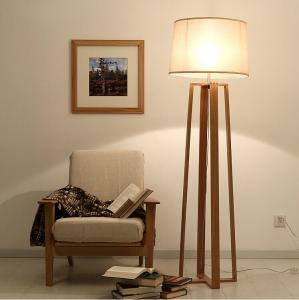 Wood Floor Standing Lamp For Living Room Reading Floor Lamp