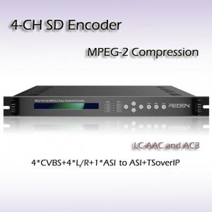 China RES2104 MPEG-2 SD Encoder 1MPTS 4*SPTS Output IPTV streaming GOP Auto Management  support PAL NTSC Mode on sale