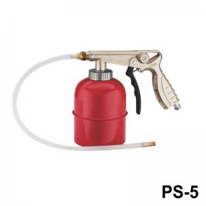 China Air Dust Proofing And Undercoating Gun Chrome Plated Color 600ml Aluminum Cup With DIsposable Hose on sale