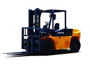 China SWF70D Hydraulic Material Handler 9 Ton Diesel Forklift Truck ISUZU Engine on sale
