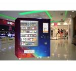 Refrigerated Milk Sandwich Fruit Snack Vending Machine For Shopping Mall Train Station
