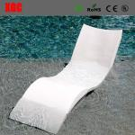 2017 Hot Selling PE Wavy Shape In-water Chaise Poolside Leisure Sun Lounge Chairs