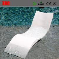 China Wavy Shape In - Water Chaise Poolside Leisure Sun Lounge Chairs Glass Fiber Materials on sale