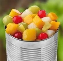 China Mixed Organic Canned Fruit , Low Calorie Canned Fruit Cocktail Refreshing Taste on sale