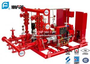 China Ductile Cast Iron Diesel Fire Pump Package 100PSI UL/FM/NFPA20 Listed on sale