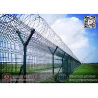 China HESLY Airport Security Fencing with Y post and Concertina Razor Wire on sale