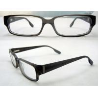 Cool Rectangular Mens Acetate Eyewear Frames, Black Optical Eyeglasses Frame
