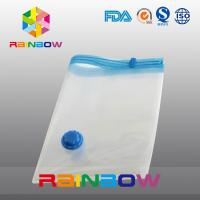 Transparent Vacuum Seal Bag for Food / Apparel / Quilt Storage With Zipper And Valve