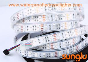 China Double Rows RGB 5050 Dimmable LED Rope Light DC 12V Silicone Tube LED Tape on sale