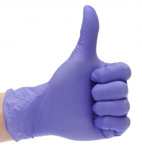 China Medical Surgical Disposable Nitrile Gloves Anti Virus Anti Bacterial on sale