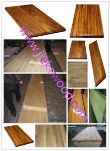 China iroko  finger-jointed  panels on sale