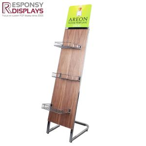 China In Door Customized Indoor Metal and Wood Perfume Display Rack for Promotion on sale