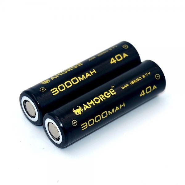 Amorge Vape battery IMR18650 3 7V 3000mah 40 high drain rechargeable