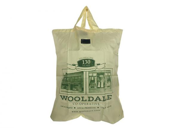 8751be236 Custom Printed Polyester Fold Up Reusable Grocery Bags