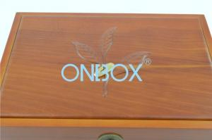 China Solid wood custom product Gift Packaging Boxes / gift box with basso-relievo pattern on sale