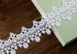 Floral Embroidered Chemical Poly Milk Lace Ribbon Trim Water Soluble Azo Free